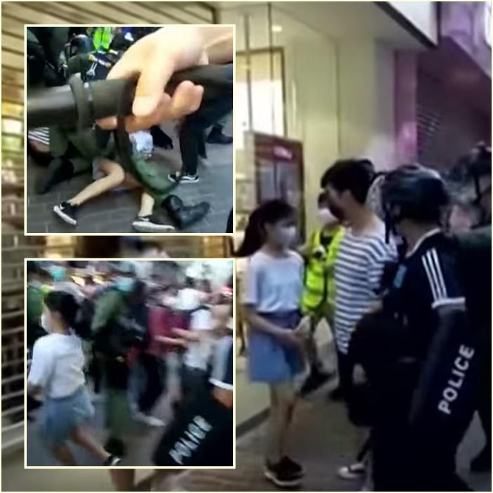 """In Clip: 12 ฮ่องกงถูกจับกลางทะเลระหว่างหนีเข้า """"ไต้หวัน"""" ต้องขึ้นศาลจีนแผ่นดินใหญ่ – ตำรวจใช้ความรุนแรงกับเด็กอายุ 12 ระหว่างจับกุมประท้วงวันอาทิตย์"""