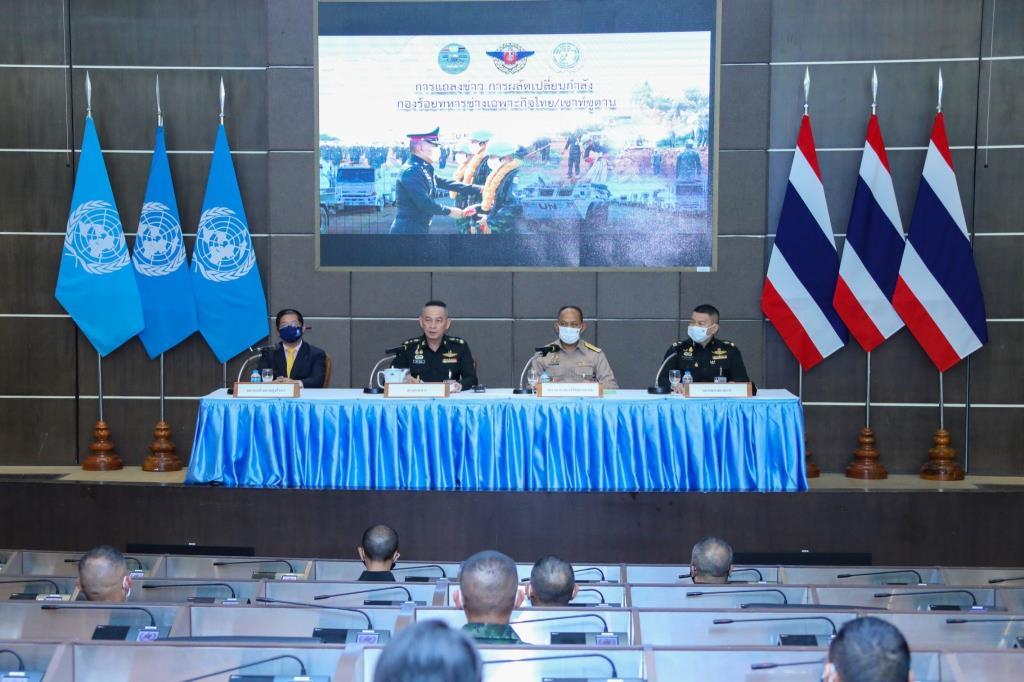 ทัพไทยย้ำพร้อมรับสับเปลี่ยนกำลังกองร้อยทหารช่างเฉพาะกิจไทย-เซาท์ซูดาน แจงยิบขั้นตอนเดินทาง-กักตัวป้องกันโรคโควิด-19