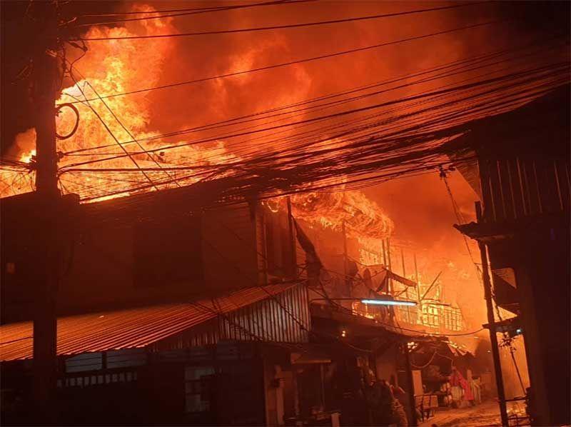 เพลิงไหม้ชุมชนย่านตลาดใหม่ดอนเมือง วอดกว่า 40 หลังคาเรือน
