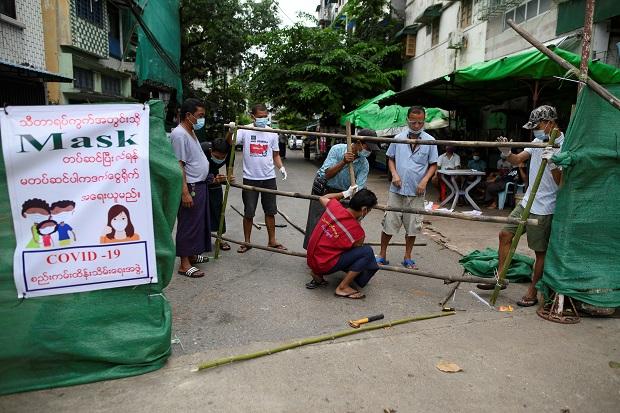 น่ากังวล!พม่าพบติดเชื้อโควิดวันเดียว671คนสูงสุดตั้งแต่ระบาด สั่งผู้คนในย่างกุ้งห้ามออกนอกบ้าน