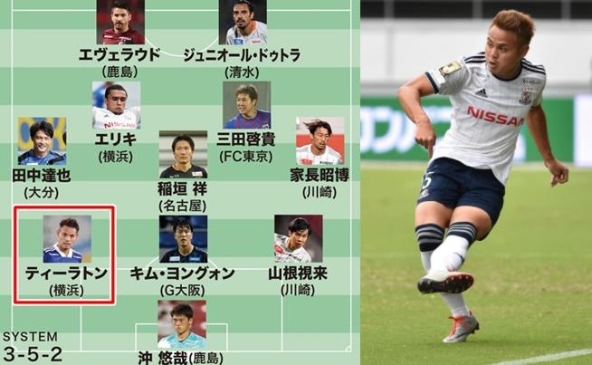 สื่อญี่ปุ่นเลือก ธีราทร ติดทีมยอดเยี่ยม เจลีก นัดที่ 17