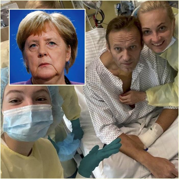 """In Clip: แมร์เคิลแอบเยี่ยม """"นาวาลนี"""" ระหว่างรักษาตัวในโรงพยาบาลเบอร์ลิน"""