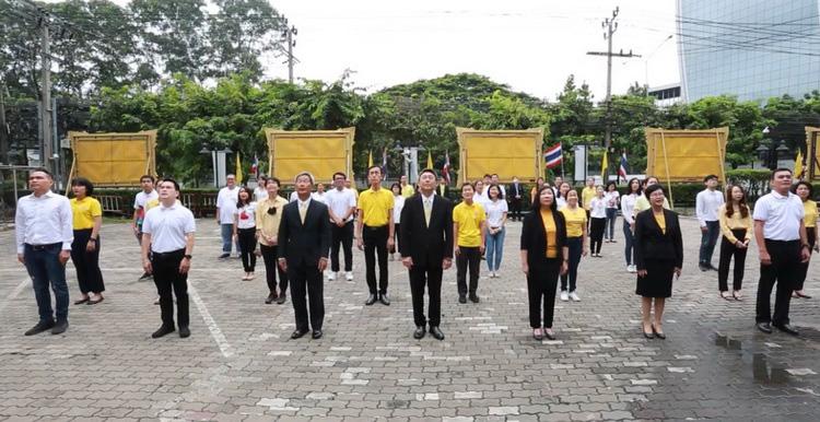 กลุ่มทรู และธุรกิจในเครือซีพีร่วมจัดกิจกรรมเคารพธงชาติและร้องเพลงชาติ เนื่องในวันพระราชทานธงชาติไทย ครบรอบ 103 ปี
