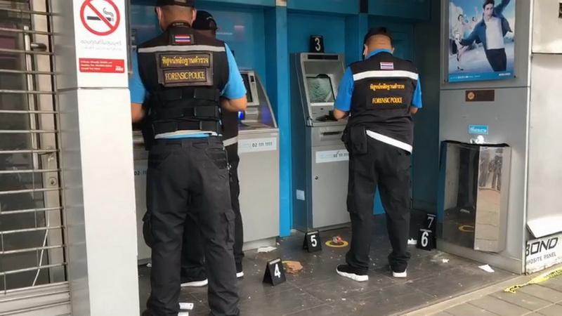 คนร้ายทุบตู้ATMแบงก์กรุงไทยกลางเมืองอุบลฯเสียหาย3ตู้ คาดโกรธกดเงินไม่ได้หรือเมาคึกคะนอง
