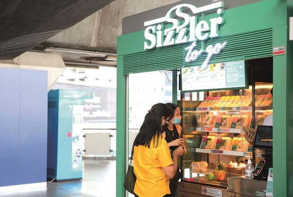 Sizzler to Go ร้านแบบ kiosk ขายอาหาร take away