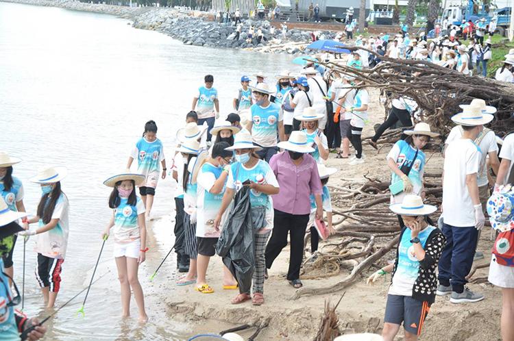 """สภาสันติภาพแห่งสหประชาชาติ ประจำภูมิเอเชียตะวันออกเฉียงใต้(UNPKFC-S.E.A)จัด""""โครงการเป้าหมายการพัฒนาแห่งสหัสวรรษ"""" (SDGs 14) อ.สัตหีบ จ.ชลบุรี"""