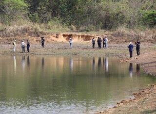 แหล่งน้ำที่พัฒนาสร้างขึ้นมาเพื่อให้ช้างป่าและสัตว์ป่าได้พักกิน