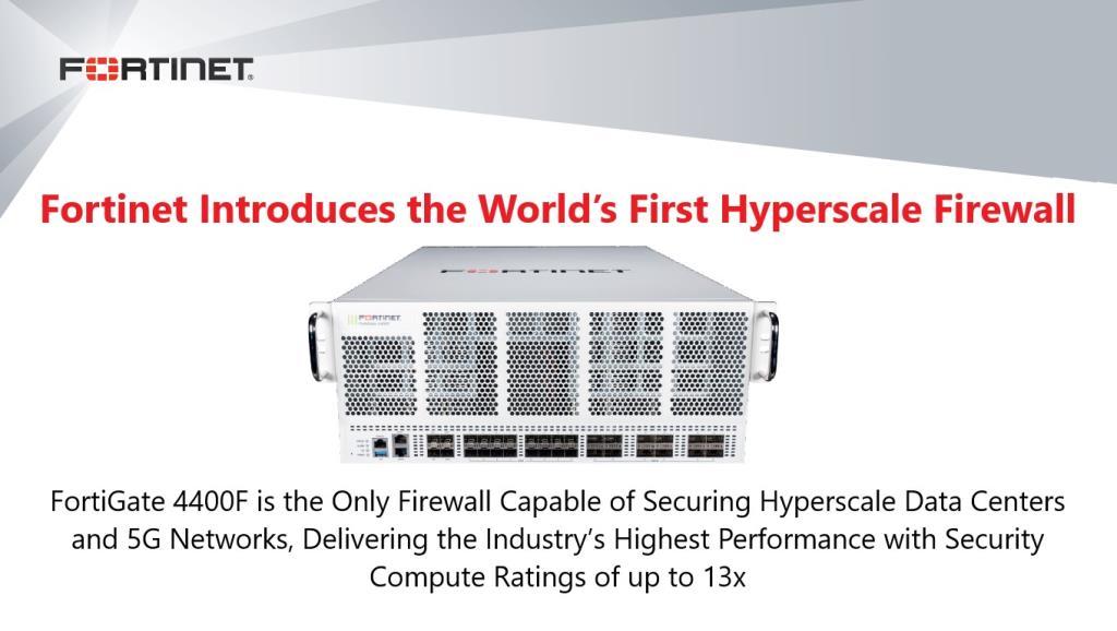 ฟอร์ติเน็ตเปิดตัว FortiGate 4400F การันตี Hyperscale Firewall ตัวแรกของโลก