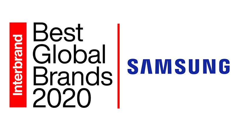 ซัมซุง ขึ้นอันดับ5จาก Interbrand's Best Global Brands 2020