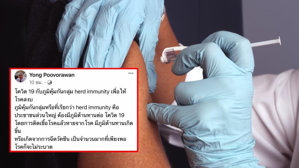 """""""หมอยง"""" ชี้หากประชากรส่วนใหญ่ได้รับวัคซีนโควิด โรคจะไม่ระบาด"""