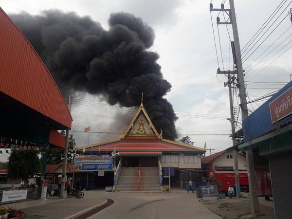 ไฟไหม้ร้านของวัดลำพญาหวิดเผาศาลาการเปรียญ เสียหายกว่า 3 ล้านบาท