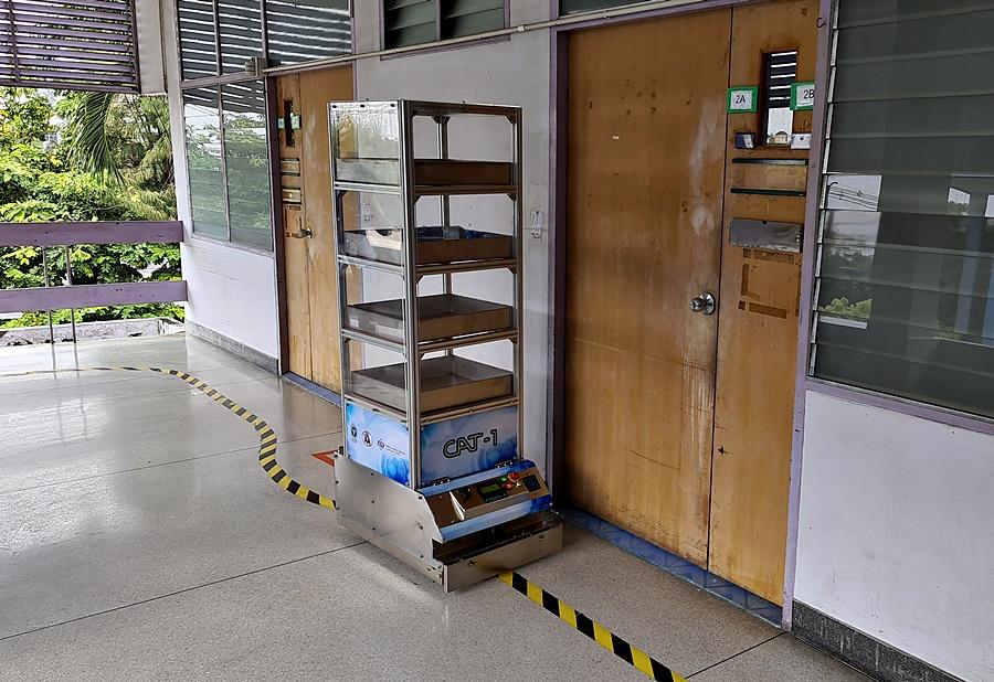 รถ AGV ที่นำไปใช้ที่โรงพยาบาลชลบุรี