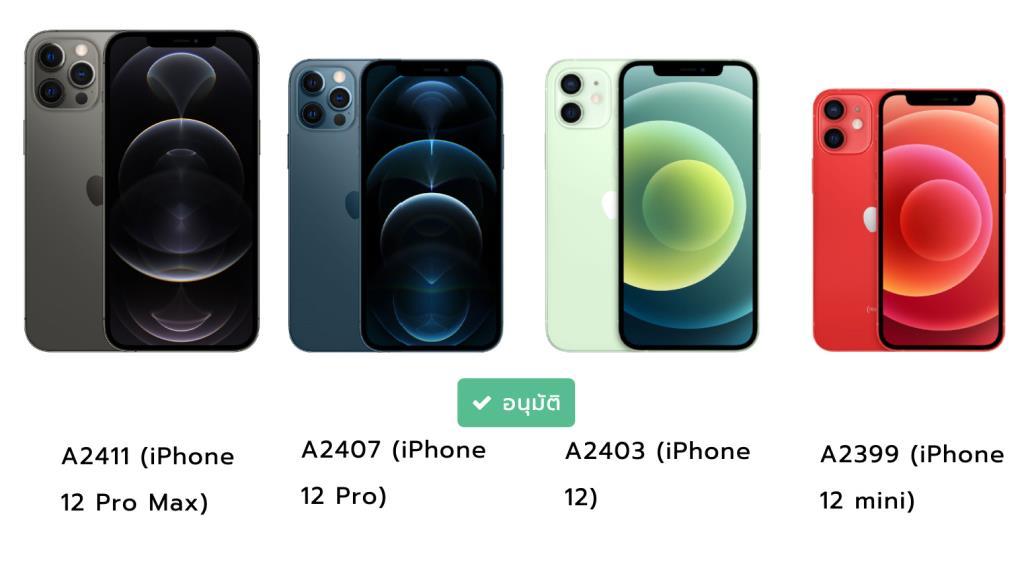 กสทช. อนุมัติรับรองมาตรฐาน iPhone 12 ทั้ง 4 รุ่นแล้ว