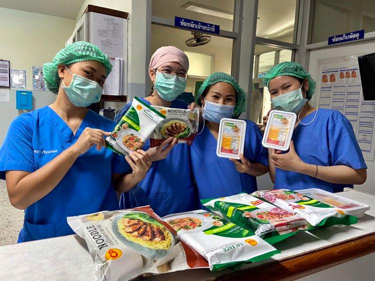 ซีพีเอฟ ส่งอาหารปลอดภัย-มอบกำลังใจ แก่แพทย์พยาบาล 5 รพ.ชายแดน จ.ตาก