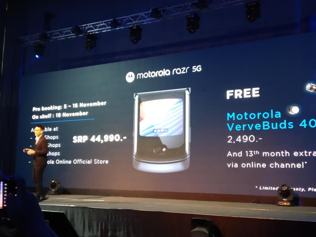 รอบนี้โมโตโรล่าเปิดจอง Razr 5G ที่ AIS, True, Dtac และ Motorola Online Official Store โปรโมชั่นสำหรับผู้สั่งจองรับฟรีหูฟัง Motorola Vervebuds 400 มูลค่า 2490 บาท พร้อมรับประกันเพิ่มเดือนที่ 13