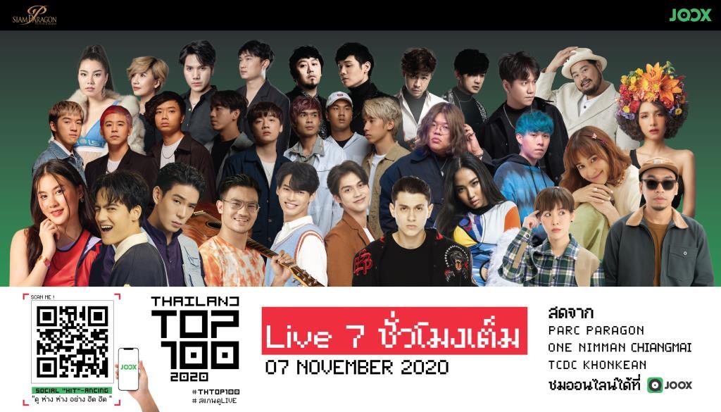 "JOOX x Siam Paragon Presents Thailand Top 100 by JOOX 2020 Social ""HIT""-ancing"