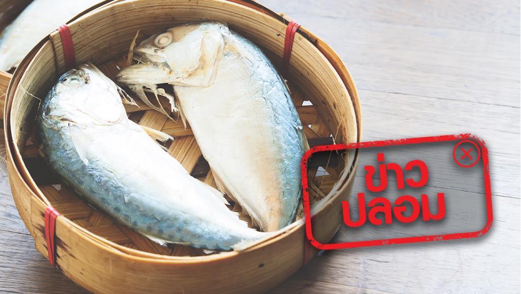 ข่าวปลอม! สารกันบูดในปลาทูนึ่ง หากสัมผัสโดนจะเป็นมะเร็งผิวหนัง