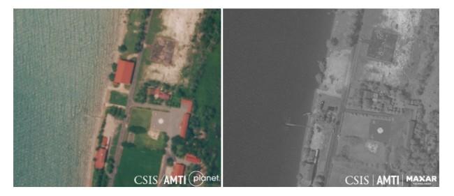 ภาพถ่ายดาวเทียมชี้กัมพูชารื้อสิ่งปลูกสร้างสหรัฐฯ ในฐานทัพเรือหายไปอีกหนึ่งหลัง