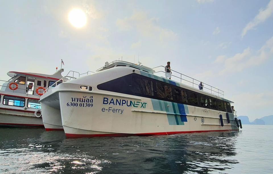 เรือไฟฟ้าท่องเที่ยวทางทะเลลำแรกของไทย เปิดให้บริการแล้ว