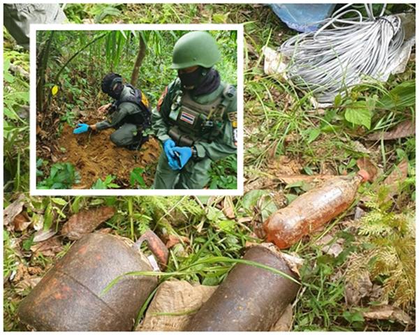 ทหารพรานพบระเบิดแสวงเครื่อง 3 ลูกที่นราฯ คาดคนร้ายนำมาซ่อนเตรียมก่อเหตุป่วนใต้