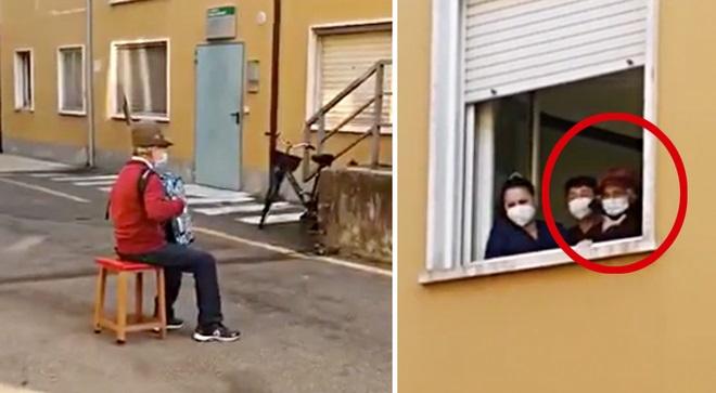 น้ำตาซึม!คุณปู่วัย81ปีบรรเลง'แอคคอร์เดียน'เฝ้าไข้เมียนอกโรงพยาบาล ท่ามกลางวิกฤตโควิด-19(ชมวิดีโอ)