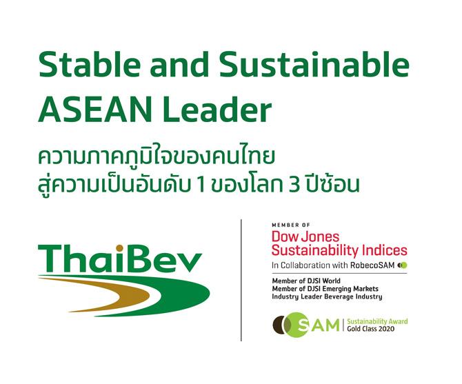 ไทยเบฟ ครองอันดับ 1 DJSI อุตสาหกรรมเครื่องดื่ม 3 ปีซ้อน ยกระดับความยั่งยืน นำความภาคภูมิใจของคนไทยไปสู่ระดับโลก