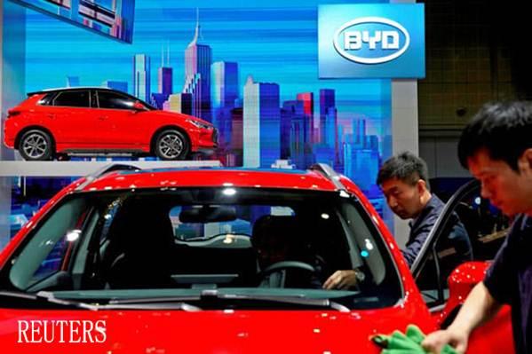 รถยนต์ไฟฟ้าชั้นนำของจีน  BYD เจาะตลาดยุโรปในปีนี้ (แฟ้มภาพรอยเตอร์ส)