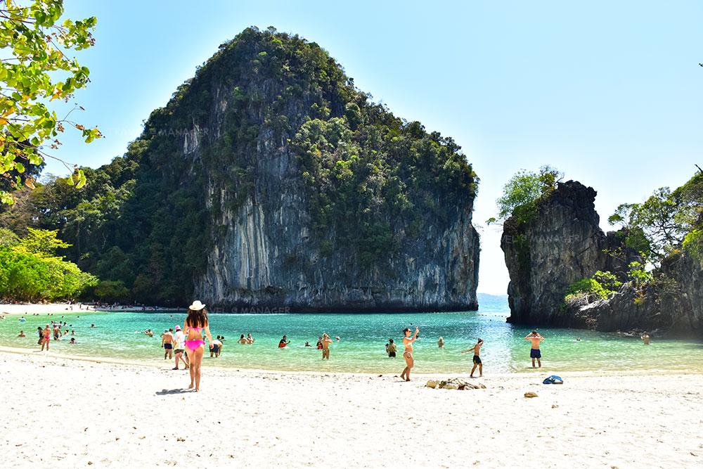 """ทะเล """"กระบี่"""" มากี่ทีก็ไม่เบื่อ ปักหมุด """"อ่าวนาง"""" ท่อง 3 เกาะสวย+ทะเลแหวกน้อย"""