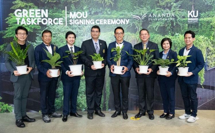 อนันดาฯ ร่วมกับ ม.เกษตรศาสตร์ จัดตั้งศูนย์ทดลองพืชพันธุ์ประกอบอาคาร หรือ Green Taskforce ครั้งแรกของวงการอสังหาริมทรัพย์