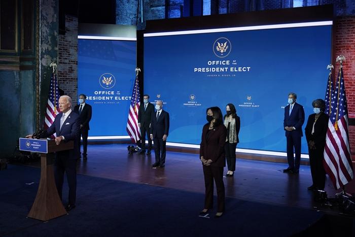 'ไบเดน'ประกาศนำสหรัฐฯกลับคืนสู่ฐานะ'ผู้นำโลก  ในพิธีเปิดตัวทีมความมั่นคง-การต่างประเทศ