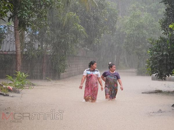 พัทลุงฝนตกหนักสะสมส่งผลน้ำท่วมในหลายอำเภอ
