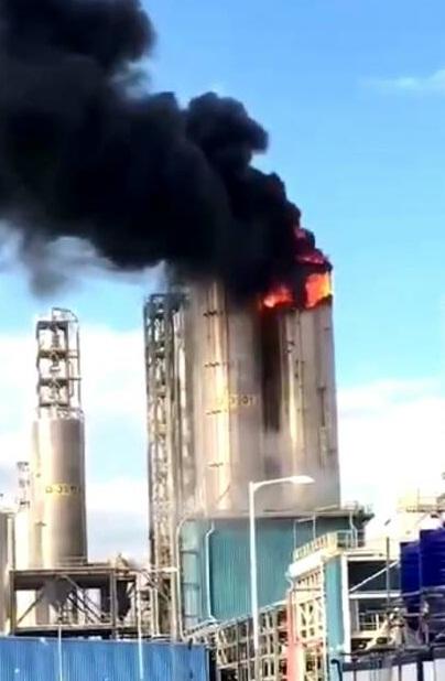 เกิดเหตุเพลิงไหม้ไซโลเก็บเม็ดพลาสติกในนิคมฯ มาบตาพุด ช่วงเย็นที่ผ่านมาขณะนี้ควบคุมเพลิงได้แล้ว