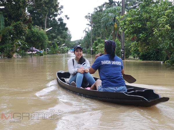 อำเภอรัษฎาอ่วม! เจอน้ำท่วมหนักบางหมู่บ้านถูกตัดขาดจากโลกภายนอก