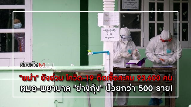 """""""พม่า"""" ยังอ่วม โควิด-19 ติดเชื้อสะสม 93,600 คน หมอ-พยาบาล """"ย่างกุ้ง"""" ป่วยกว่า 500 ราย!"""