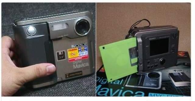กล้องดิจิทัลรุ่นแรก ๆ ใช้แผ่นดิสก์ขนาด 3.5 นิ้วบันทึกข้อมูล