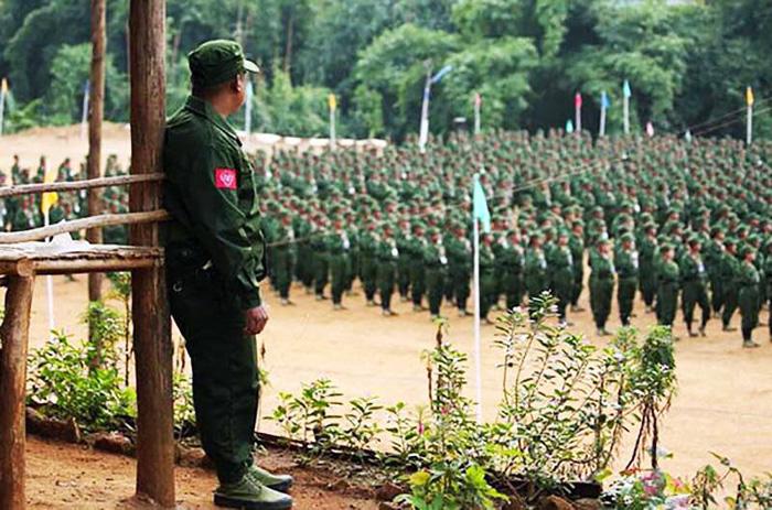 """""""ว้า"""" เป็นตัวกลางจัดประชุมที่ป๋างซาง ทหารพม่า-AA นั่งโต๊ะเจรจากันครั้งแรก"""