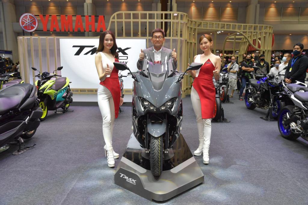 ยามาฮ่า อวด TMAX Tech Max สีใหม่ Tech Kamo และ Power Grey ครั้งแรกในเอเชียที่งานมอเตอร์เอ็กซ์โป