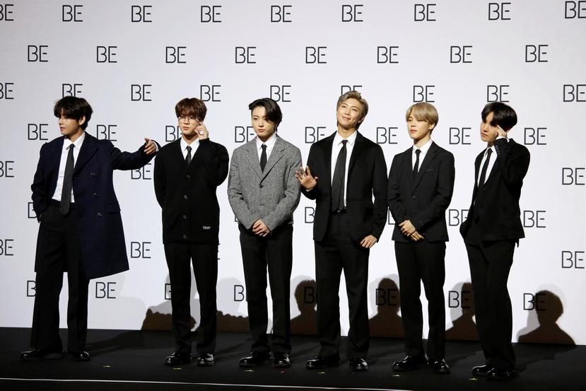 กลุ่มศิลปินวง BTS จากเกาหลีใต้