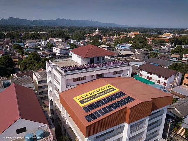 'กรีนพีซ' หนุนวิทยาลัยอาชีวศึกษาใช้โซลาร์รูฟท็อป สร้างแหล่งเรียนรู้และต่อยอดการจ้างงานจากพลังงานแสงอาทิตย์