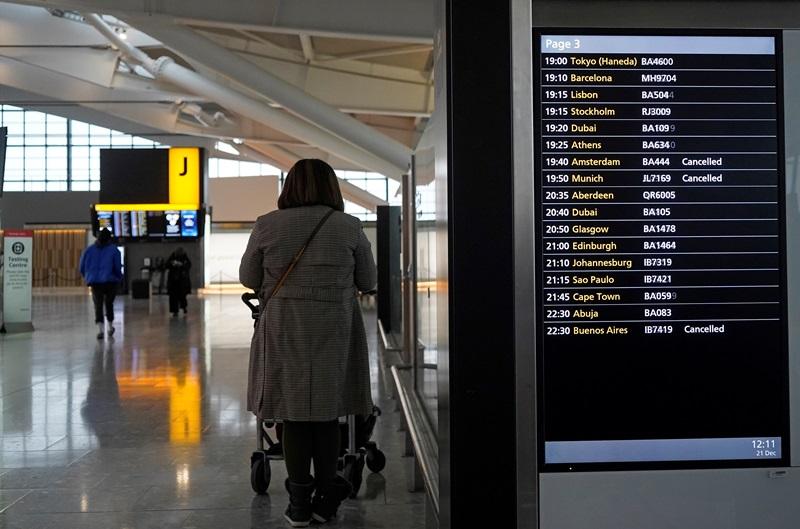 หลายสิบปท.ทั่วโลกพากันแบนเที่ยวบินอังกฤษ  ผวาไวรัสกลายพันธุ์ระบาดรวดเร็วกว่าเดิม  ด้านเกาหลีใต้วิตก เหลือแค่ 4 เตียงสำหรับผู้ป่วยไอซียูในกรุงโซล