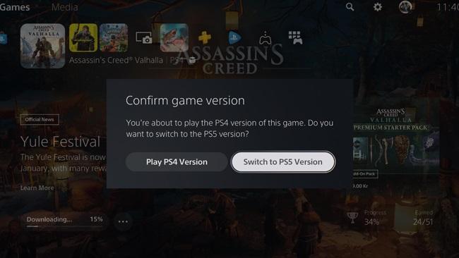 """ไม่สับสน! """"PS5"""" เพิ่มปุ่มพรอมต์ กันคนเล่นผิดเวอร์ชัน"""