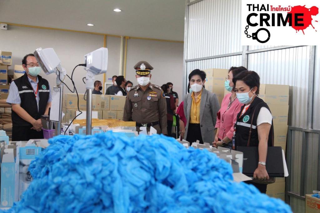 ป.จับนายทุนจีนลักลอบเปิดโรงงานผลิตถุงมือแพทย์เถื่อน
