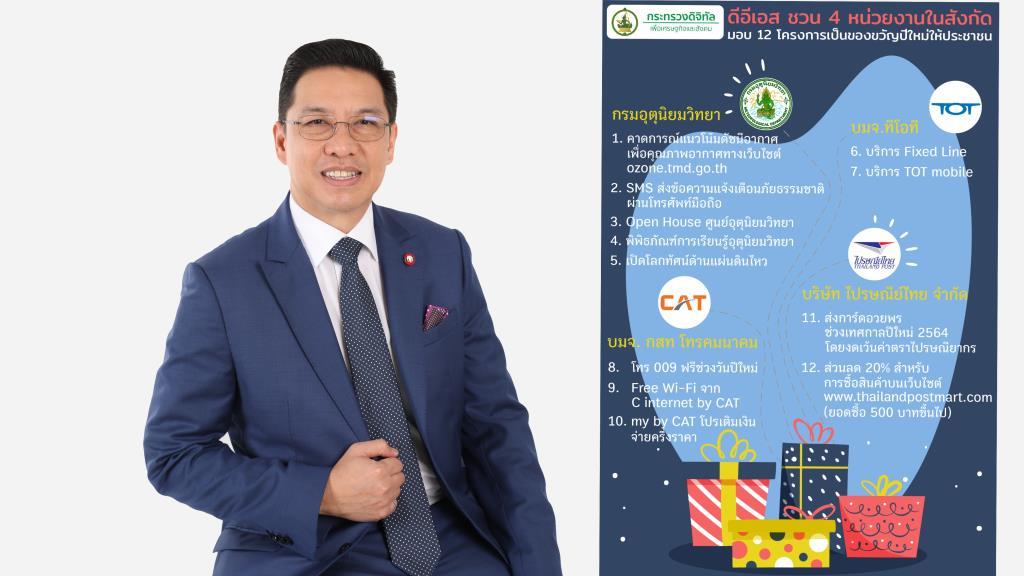กระทรวงดีอีเอส จัดเต็มของขวัญปีใหม่ 2564 ให้คนไทยทั่วประเทศ