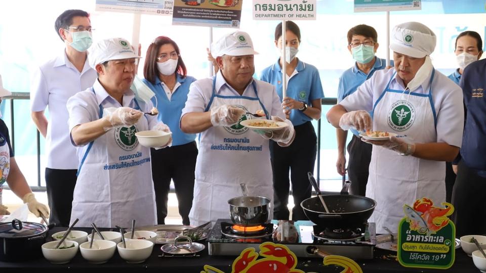 """เปิดสูตรอาหาร """"ข้าวผัดกุ้งหมอหนู-ต้มยำกุ้งหมอหนู"""" อาหารทะเลปรุงสุกปลอดภัยไร้โควิด-19"""