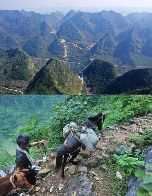 การตัดถนนในเขตยากจนที่ห่างไกลเป็นมาตรการแก้จนมาตรการหนึ่งของจีน