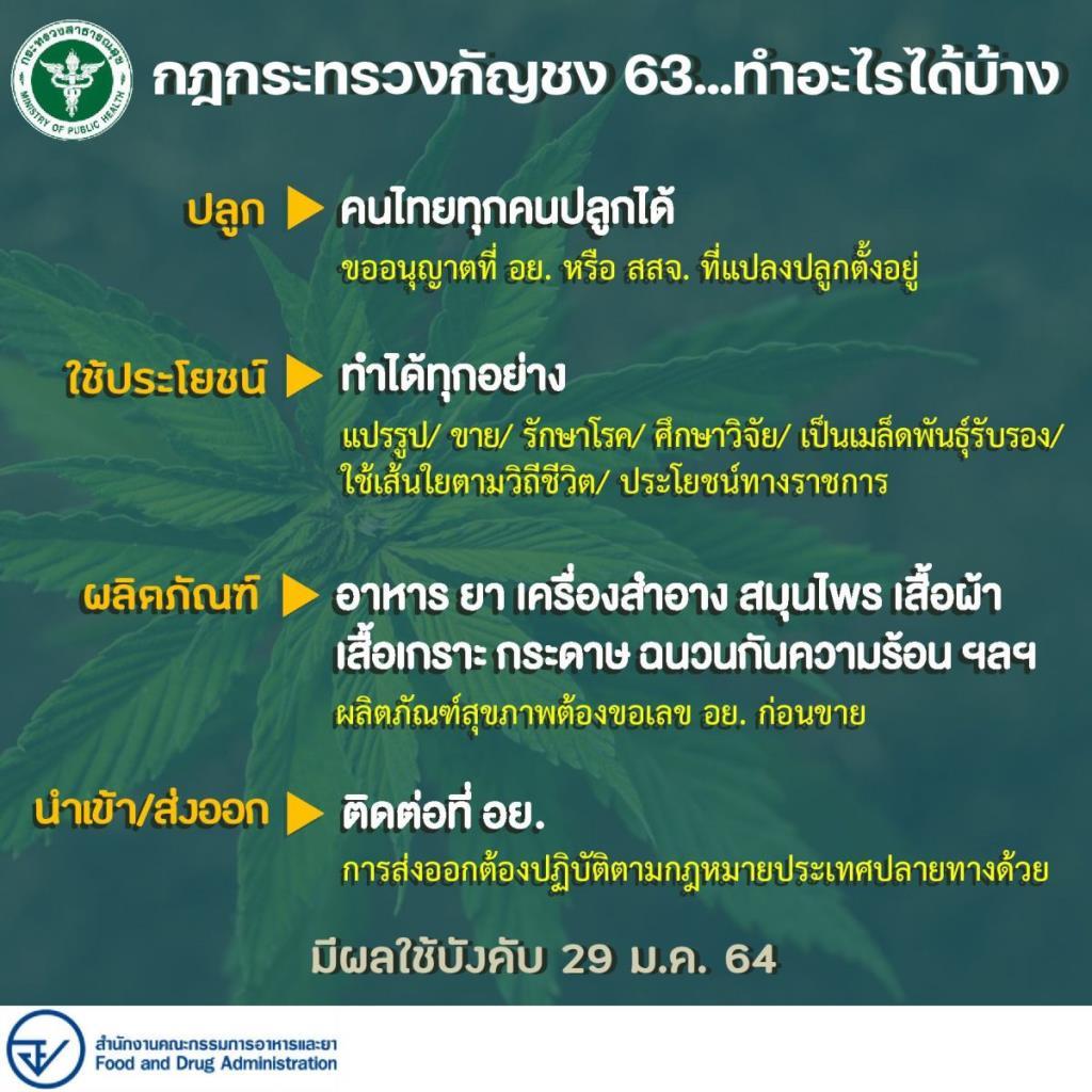 ของขวัญปีใหม่! กฎกระทรวงฯ กัญชงฉบับใหม่ ลงราชกิจจาฯ แล้ว เปิดให้คนไทยทุกคนปลูกได้ ใช้ประโยชน์ได้ทุกวัตถุประสงค์ พร้อมเป็นพืชเศรษฐกิจใหม่