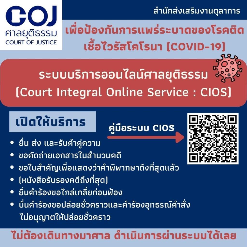 ศาลออกแนวปฏิบัติจัดการคดีช่วงโควิด-19 ให้เลื่อนคดีม.ค.-ใช้ระบบออนไลน์มากขึ้น