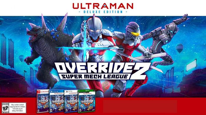 """อุลตร้าแมนร่วมแจมศึกหุ่นยักษ์ต่อยตีใน """"Override 2: Super Mech League"""""""
