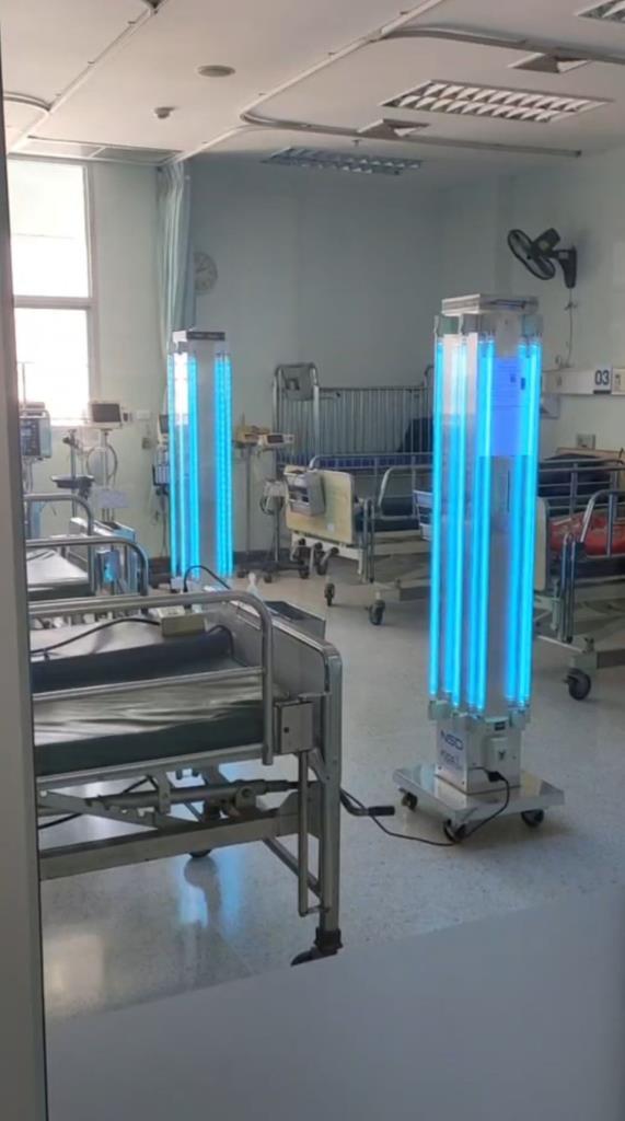 เครื่องกำจัดเชื้อโรคด้วยวิธีการฉายแสงยูวีซี