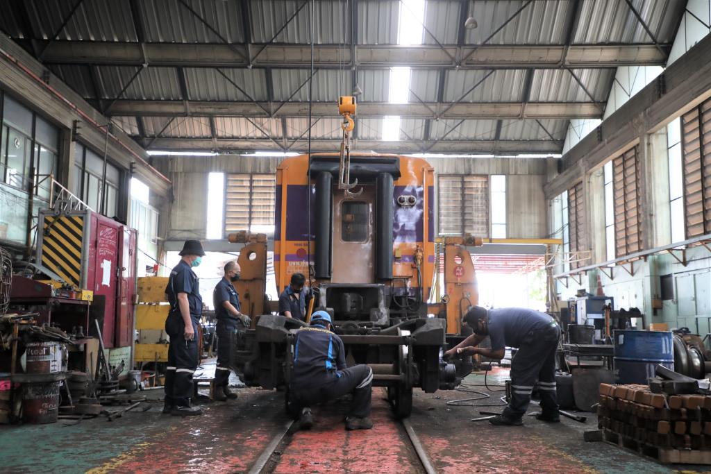 รฟท.กวดขันโรงรถจักร/โรงซ่อม ป้องกันการสร้างฝุ่น แก้PM2.5